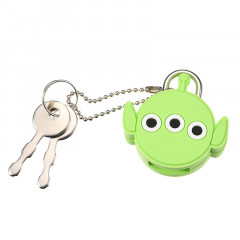 Disney Key Chain Little Green Men Alien Face Padlock
