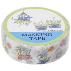Disney Japanese Washi Paper Masking Tape - Toy Story Little Green Men Aliens White