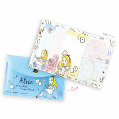 Japan Disney Store Alice in Wonderland Sticky Notes & Folder Set