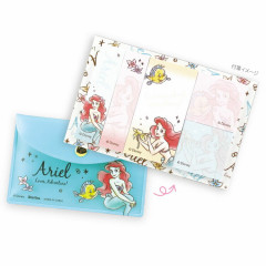 Japan Disney Store Little Mermaid Ariel Memo Sticker & Folder Set