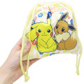 Japan Pokemon Drawstring Bag - Pikachu & Eevee - 2
