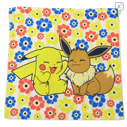 Japan Pokemon Drawstring Bag - Pikachu & Eevee - 3