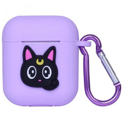 Sailor Moon Luna Cat Purple AirPods Case