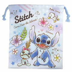 Japan Disney Drawstring Bag - Stitch Ohana