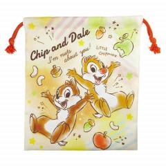 Japan Disney Drawstring Bag - Chip & Dale Fun Time
