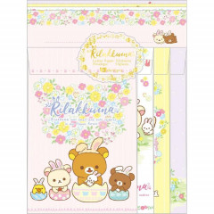 Japan Rilakkuma Letter Envelope Set - Easter Egg Korilakkuma Chairoikoguma