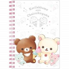 San-X Rilakkuma Notebook - Korilakkuma & Chairoikoguma Ice Cream White