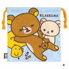 Japan Rilakkuma Drawstring Bag - Korilakkuma Tricks