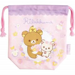 Japan Rilakkuma Drawstring Bag - Korilakkuma Light Pink