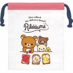 Japan Rilakkuma Drawstring Bag - Delicious Bread