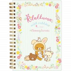San-X Rilakkuma Notebook - Korilakkuma & Chairoikoguma Easter Rabbit