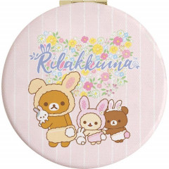Japan San-X Rilakkuma Hand Mirror - Easter Rabbit Pink