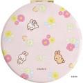Japan San-X Rilakkuma Hand Mirror - Easter Rabbit Pink - 3