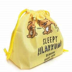 Japan Rilakkuma Drawstring Bag - Always Seems to be Sleepy