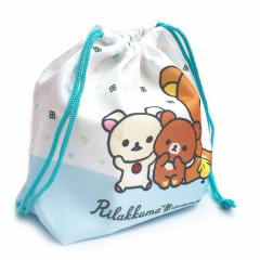 Japan Rilakkuma Drawstring Bag - Korilakkuma & Chairoikoguma Sky Blue