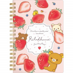 San-X Rilakkuma Notebook - Strawberry B6