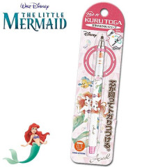 Japan Disney Uni Kuru Toga Auto Lead Rotation 0.5mm Mechanical Pencil - Little Mermaid Ariel White