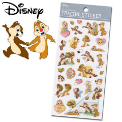 Japan Disney Sticker - Chip & Dale Tracing Sticker