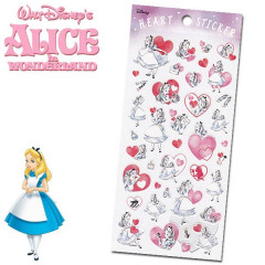 Japan Disney Heart Sticker - Alice in Wonderland