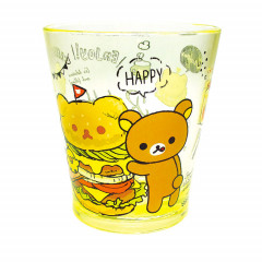 Japan San-X Rilakkuma Happy Time Acrylic Cup Clear Airy - Yellow