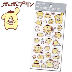 Sanrio Sticker - Pompompurin Pudding Dog Tracing Sticker
