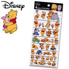 Japan Disney 4 Size Sticker - Winnie the Pooh