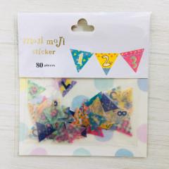 Moji Moji Flake Stickers 80pcs - Number B012