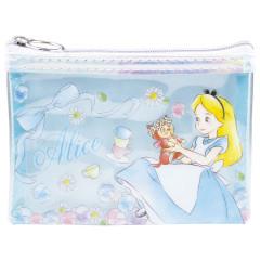 Japan Disney Zipper Makeup Clear Pouch (S) Alice in Wonderland