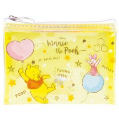 Japan Disney Zipper Makeup Clear Pouch (S) Winnie the Pooh & Piglet