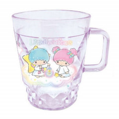Japan Sanrio Little Twins Stars Glitter Diamond Time Acrylic Cup Clear Airy - Purple