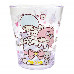 Japan Sanrio Little Twins Stars Acrylic Cup Clear Airy - Purple