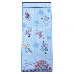 Japan Disney Fluffy Towel - Alice in Wonderland Poker Blue