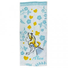 Japan Disney Alice in Wonderland Fluffy Towel - Dreamy Blue