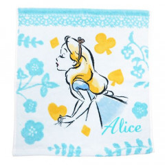 Japan Disney Alice in Wonderland Fluffy Handkerchief Hand Towel - Dreamy Blue