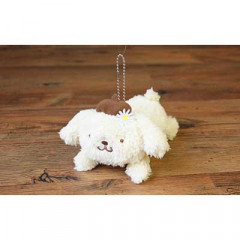 Japan Sanrio Fluffy Plush - Pom Pom Purin with Ball Chain