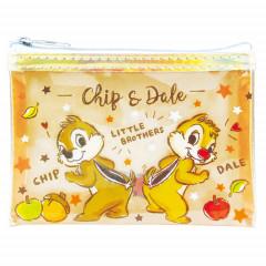 Japan Disney Mini Clear Pouch Makeup Bag  - Chip & Dale