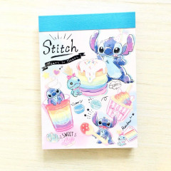 Japan Disney B8 Mini Notepad - Stitch Pop Sweets