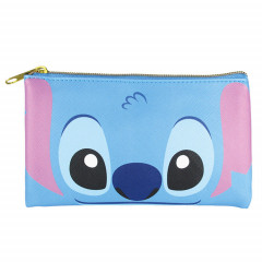 Japan Disney Pouch Makeup Bag Pencil Case - Stitch Faces