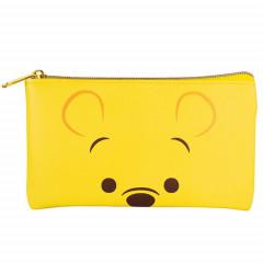 Japan Disney Pouch Makeup Bag Pencil Case - Winnie the Pooh Faces