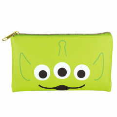 Japan Disney Pouch Makeup Bag Pencil Case - Toy Story Alien Little Green Men Faces