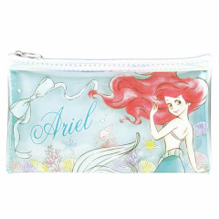 Japan Disney Clear Makeup Pouch Bag Pencil Case (M) - Little Mermaid Ariel