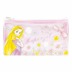 Japan Disney Clear Makeup Pouch Bag Pencil Case (M) - Rapunzel