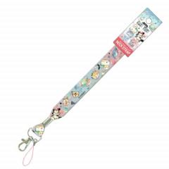 Japan Disney Neck Strap - Tsum Tsum Friends Blue