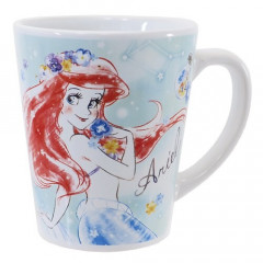 Japan Disney Princess Ceramic Mug  - Little Mermaid Ariel Dreamy with Gift Box Set