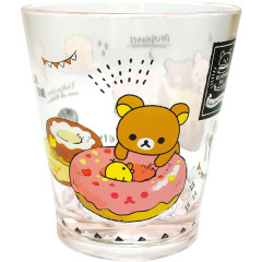 Japan San-X Rilakkuma Happy Time Acrylic Cup Clear Airy - Doughnut