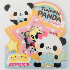 Cute Sticker Flakes 71pcs - Twinkle Panda
