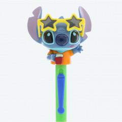 Japan Disney Resort Limited Big Head Moving Glasses Ball Pen - Stitch