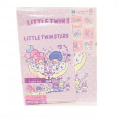 Japan Sanrio Letter Envelope Set - Little Twin Stars Purple