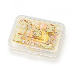 Japan Sanrio Masking Seal Sticker - Pompompurin Pudding Dog with Case
