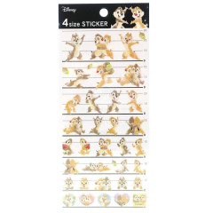 Japan Disney 4 Size Masking Sticker - Chip & Dale Watercolor